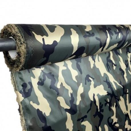 Woodland Camo - 1.1oz Calendared Polyester Ripstop