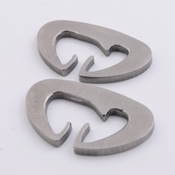 Titanium Dutch Clips (Pair)