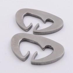 Titanium Dutch Clips (Pair)