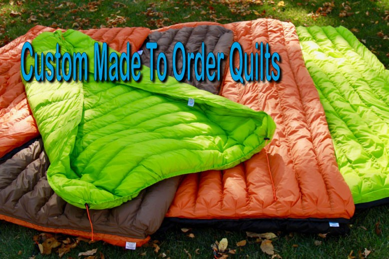 Down filled quilts